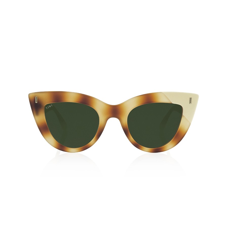 TIWI YUNON RUBBER HAVANA TORTOISE/CREAM WITH CLASSIC GREEN LENSES