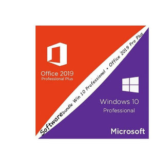 Softwarebundle Microsoft Windows 10 Professional + Microsoft Office 2019 Pro Plus