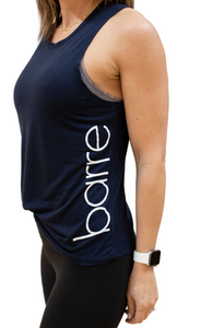 BARRE Side Printed Muscle Tank