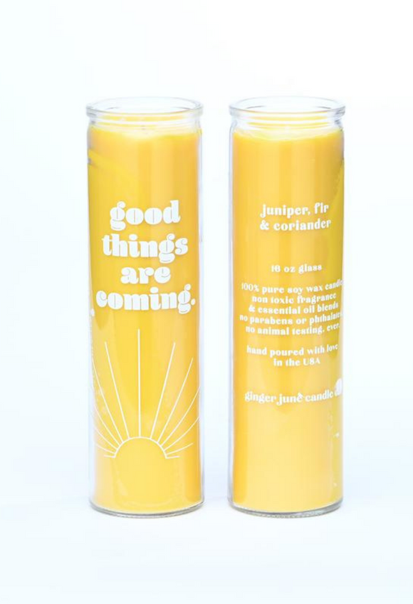 good things are coming • elevate collection • 16 oz candle