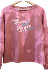 Wreath + Robe shine bright, barre hard raw edge sweatshirt