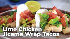 lime chicken jicama tacos