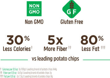 gluten free chips, low calorie chips, low fat chips, high fiber chips