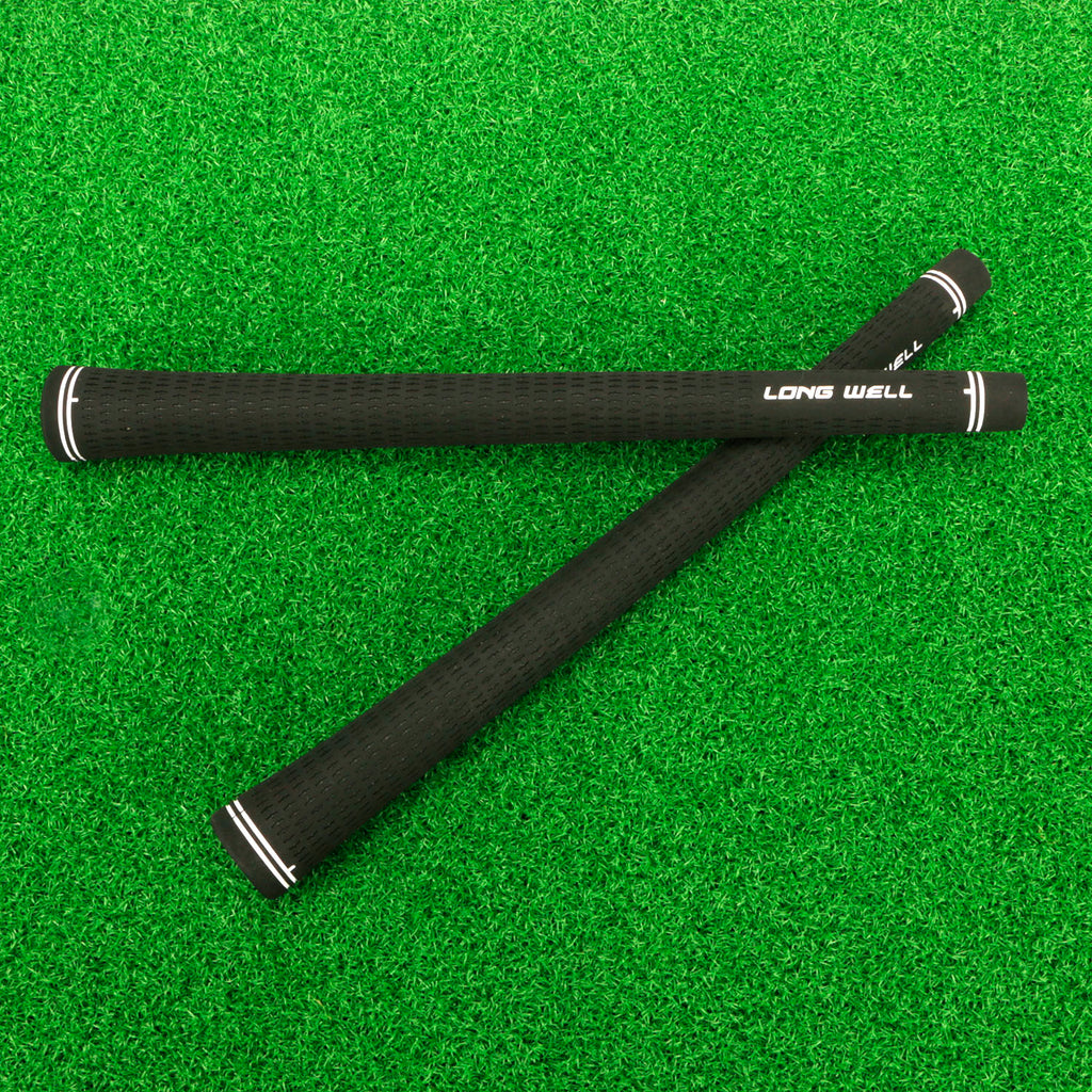 Long WellGolf Grips,Golf Club Grips midsize Standard Size,10 Grips Set,balck Colors Optional,Anti-Slip High Stability,All Weather Cord Rubber Golf Club Grips