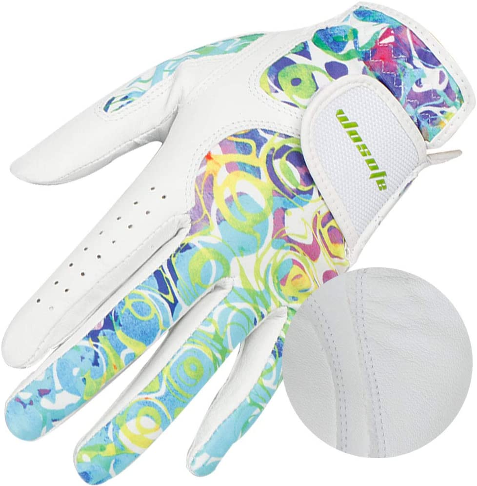 Golf Gloves for Women Soft Leather Accessories Breathable for Non Slip Gloves 1 Pair