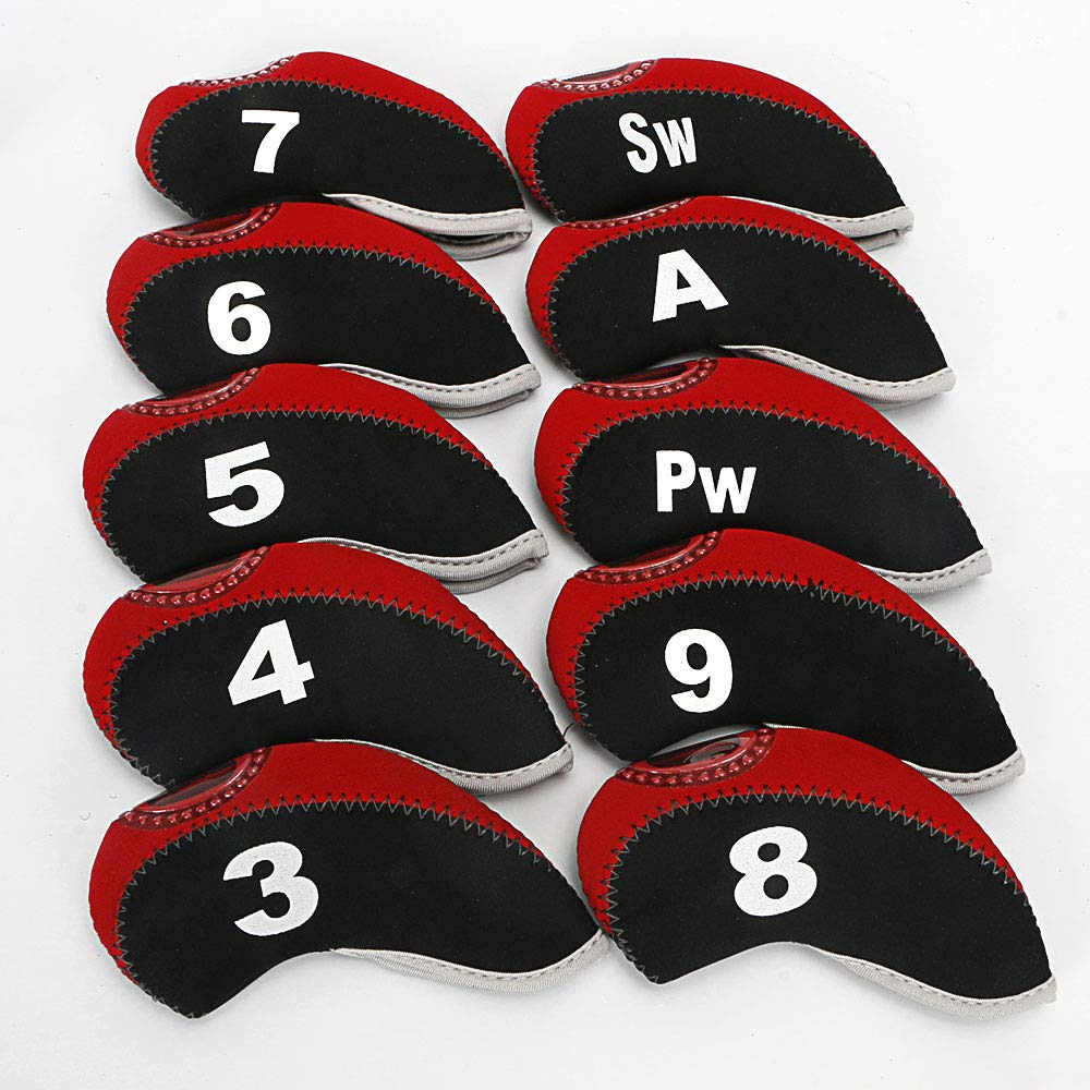 Golf Iron Covers Set for Club Mens Neoprene Elasticity Portable Selections 10pcs/lot