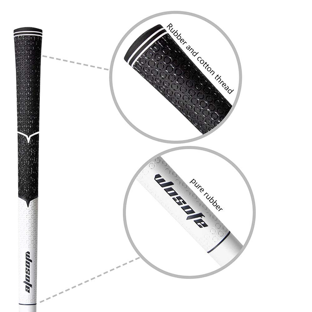 wosofe golf iron grips black cord rubber standard Non-slip and wear-resistant 10pcs each package