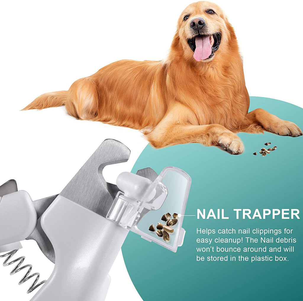 Dog Cat Nail Clippers led Light Pet Scissors Hidden File Collector to Avoid Over Cutting with Sharp Blades USB Charging