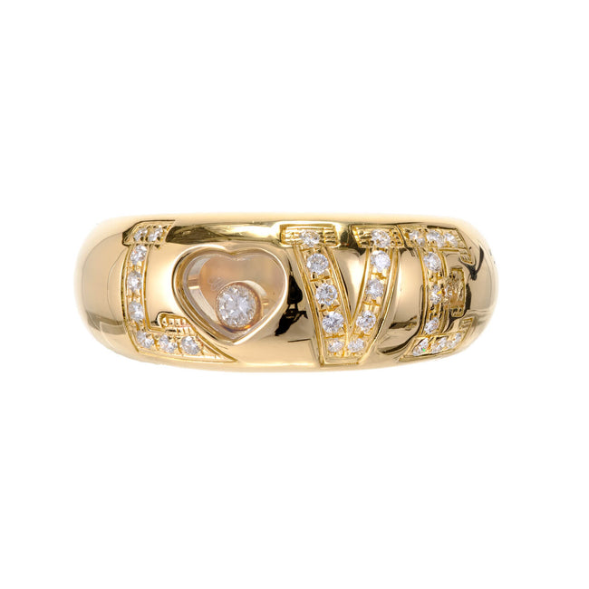 Chopard Love Ring 18k Yellow Gold Diamond - Majesty Jeweler