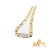 Cuban Link Chain with  Cubic zirconia - Majesty Jeweler