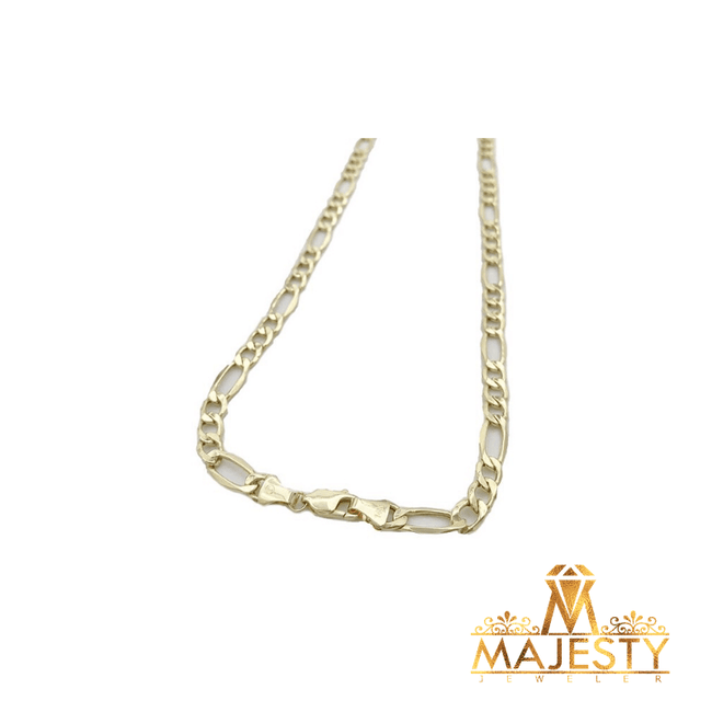 Figaro Style Chain 14K - Majesty Jeweler