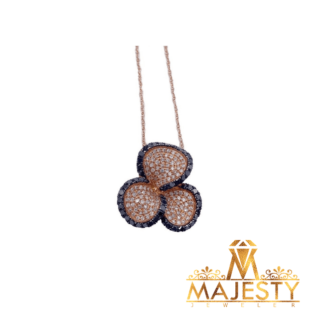 Flower Necklace 14K - Majesty Jeweler