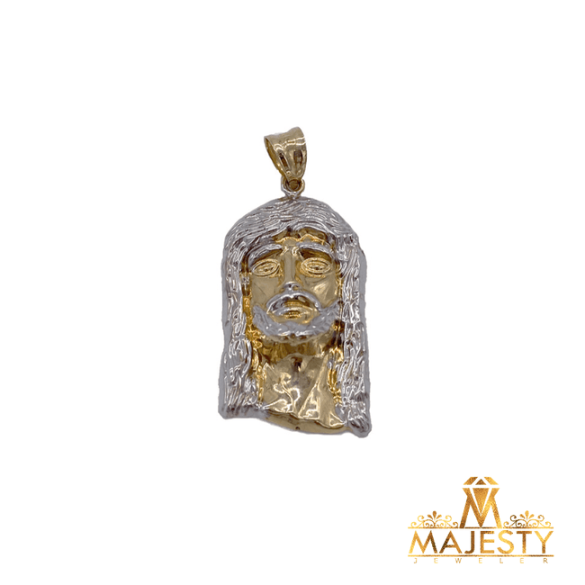 Plain Jesus Face Pendent 10K - Majesty Jeweler
