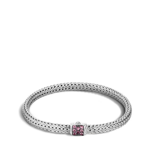 John Hardy Classic Chain Bracelet with Pink Spinel - Majesty Jeweler