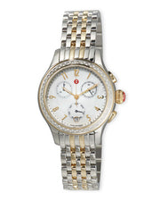Michele Sidney Two-Tone Diamond & Mother of Pearl Dial Watch - Majesty Jeweler