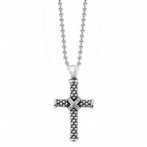 Lagos Caviar Cross Necklace - Majesty Jeweler