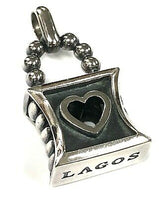 Lagos Caviar Heart Lock Pendant - Majesty Jeweler