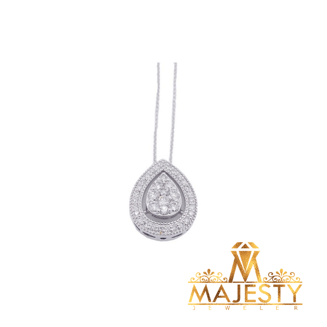 Oval Necklace with Diamonds - Majesty Jeweler