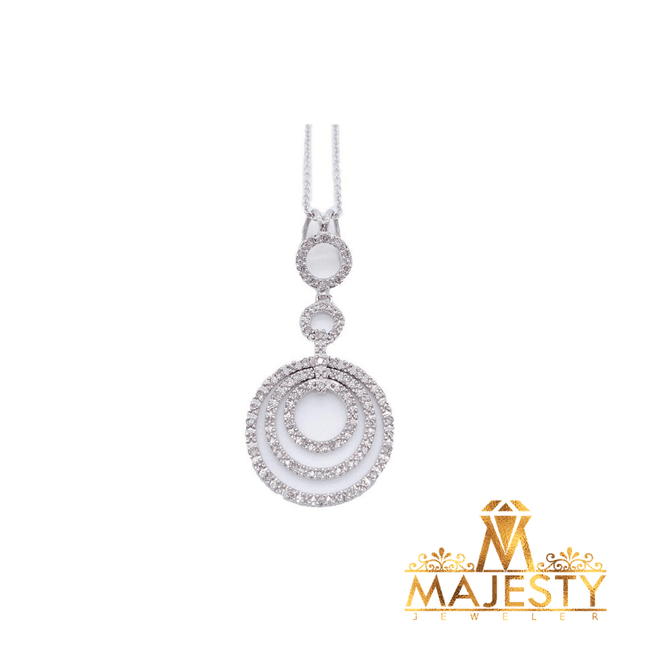 Tri-Circle Drop Necklace with Diamonds - Majesty Jeweler