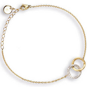 Marco Bicego Delicati 18K Round Link Bracelet with Diamonds - Majesty Jeweler