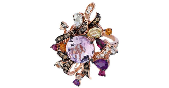 Le Vian Multicolor Crazy Collection 14k Rose Gold Diamond & Gemstone Ring - Majesty Jeweler