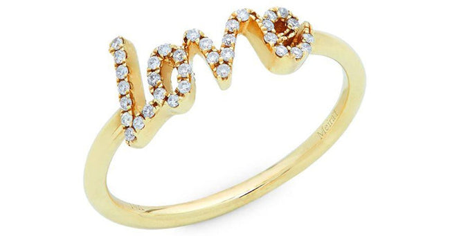 Meira T 14K Love Ring with Diamonds - Majesty Jeweler