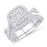 Majesty Jeweler 14K Diamond Halo Bridal Set - Majesty Jeweler
