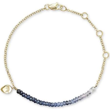Meira T Blue Sapphire and 14K Yellow Gold Bracelet - Majesty Jeweler