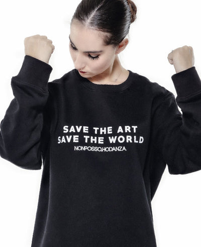 MAXI FELPA SAVE THE ART - Non Posso, Ho Danza.