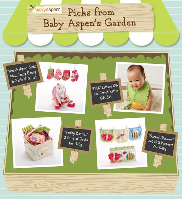 Spring Baby Gift Ideas | Garden themed baby gifts | Baby Aspen | babyaspen.com | blog.babyaspen.com | #babyaspen #babygifts #giveaway