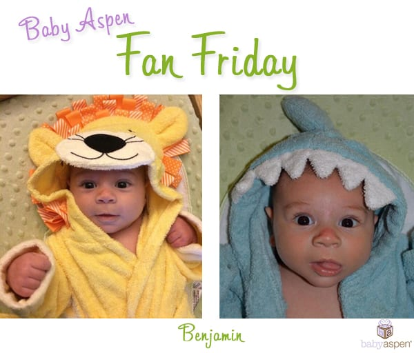 Fan Friday | Baby Aspen | Baby Bathrobes | Shark Robe | Lion Robe | blog.babyaspen.com | babyaspen.com