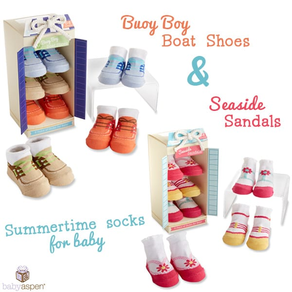 Baby Boat Shoes | Baby Sandals | Sandal Socks for Baby | Boat Shoe Socks for baby | Baby Aspen Gifts | blog.babyaspen.com | babyaspen.com | #babyaspen #summerbabyclothes #babygift