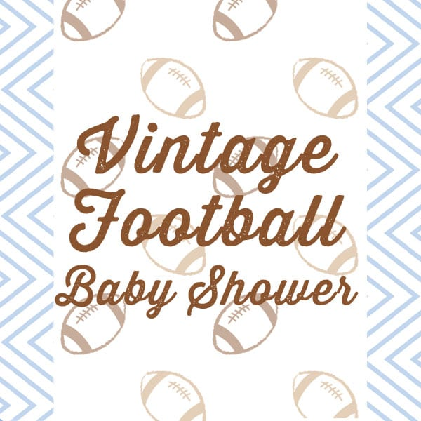 Blue and Brown Vintage Football Baby Shower Theme | Baby Boy | Baby Shower | Baby Football Outfit | Baby Aspen