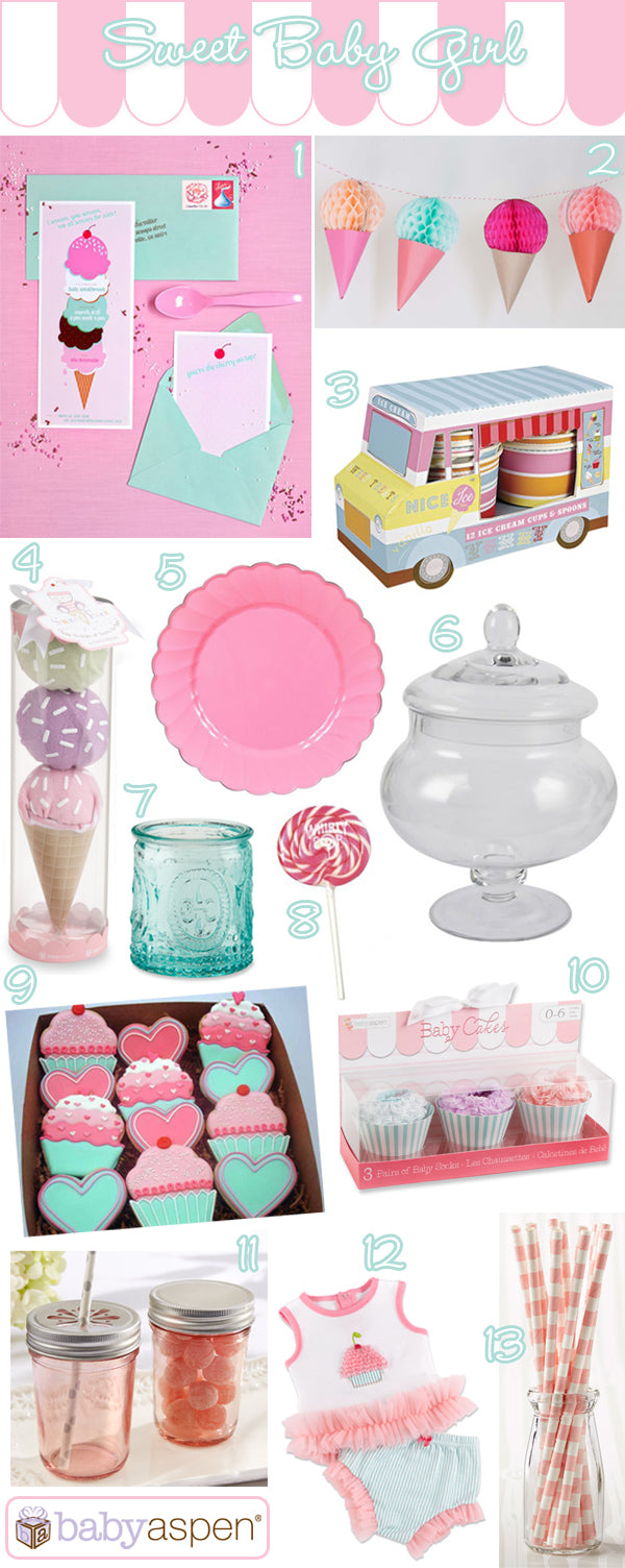 Baby Aspen Blog | Sweet Baby Girl Baby Shower | Cute as a Cupcake Baby Shower | Ice Cream Themed Baby Shower