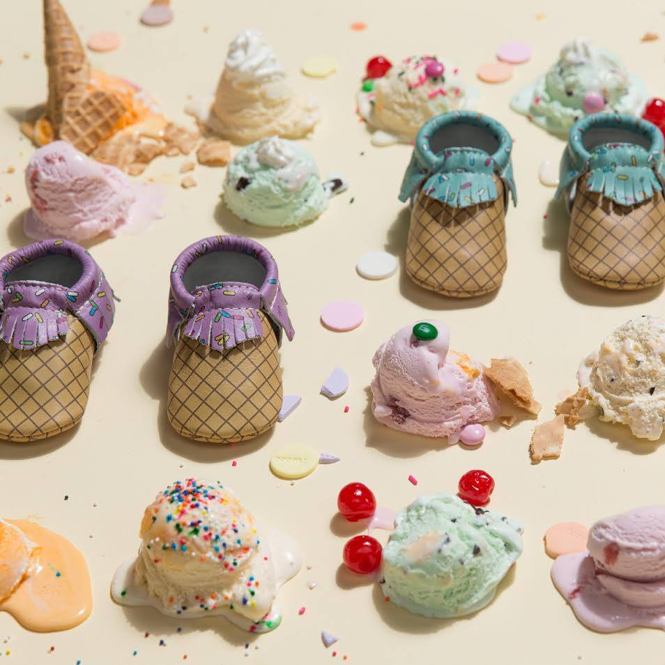 Freshly Picked Ice Cream Moccasins