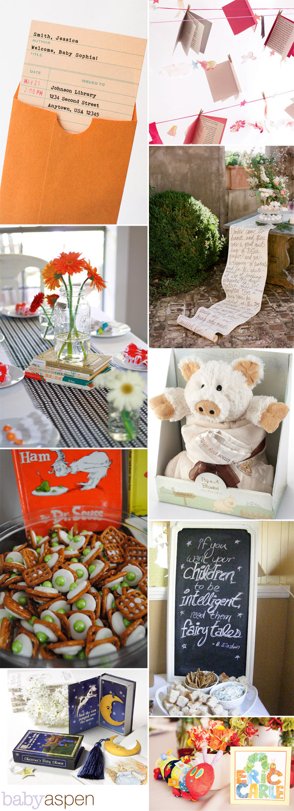 Book Themed Baby Shower | Story Book Baby Shower | Baby Aspen Blog