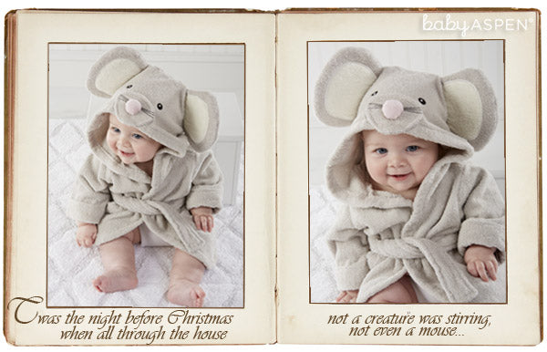 Baby's First Christmas | Twas the night before Christmas | Mouse Robe  by Baby Aspen