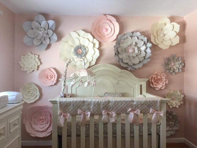 Paper Flower Nursery | 5 Trendy and Unique Nursery Themes for 2017 | Baby Aspen
