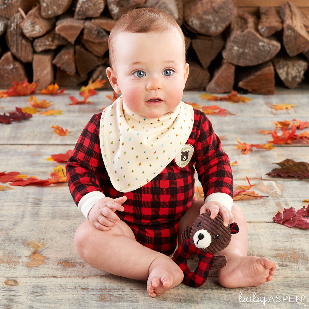 3 Piece Gift Set (Red Plaid)| Baby Aspen