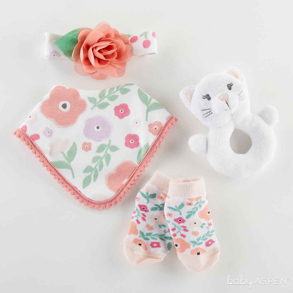 Pretty Posies 4-Piece Gift Set | Purrrfectly Adorable Gifts For Baby + A Giveaway | Baby Aspen