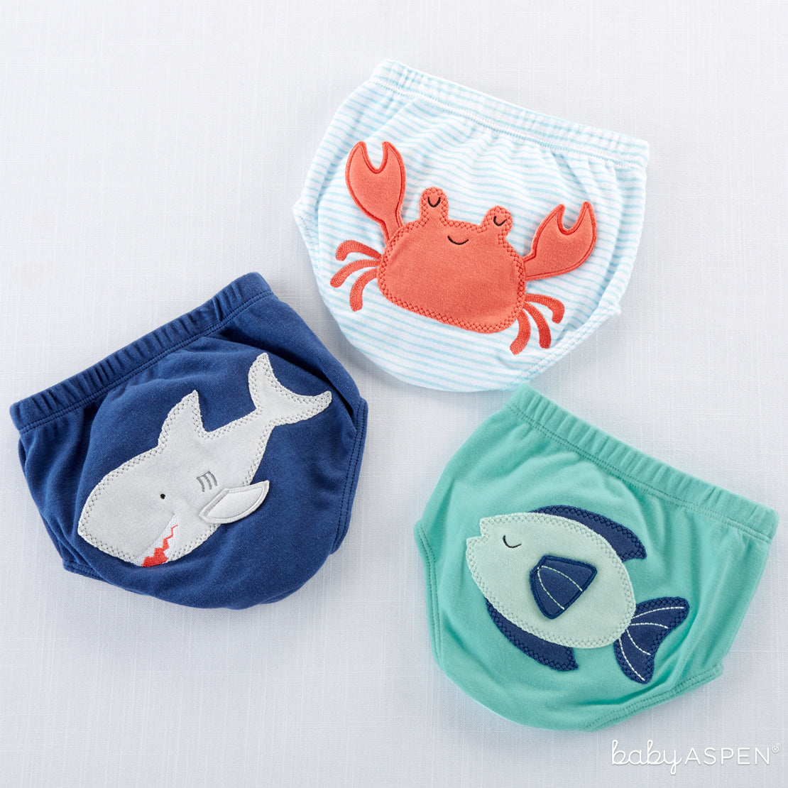 Assortment of Under The Sea 3-piece Diaper Covers - Boy | Brilliant Beach Baby Gifts + A Giveaway | Baby Aspen