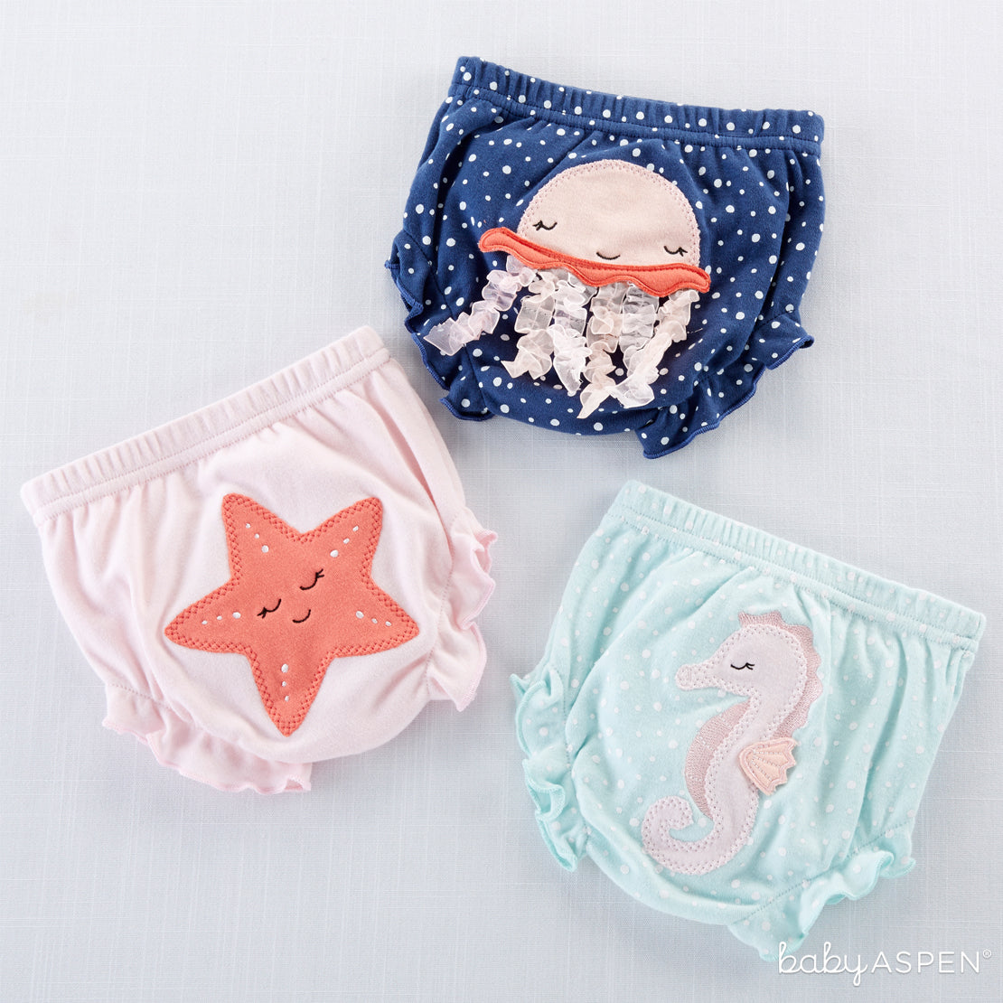 Assortment of Under The Sea 3-Piece Diaper Covers - Girl | Brilliant Beach Baby Gifts + A Giveaway | Baby Aspen