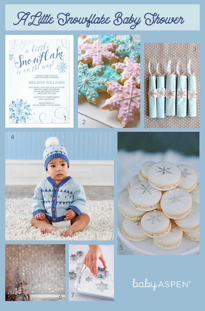 A Little Snowflake Baby Shower Inspiration | A Little Snowflake Baby Shower | Baby Aspen