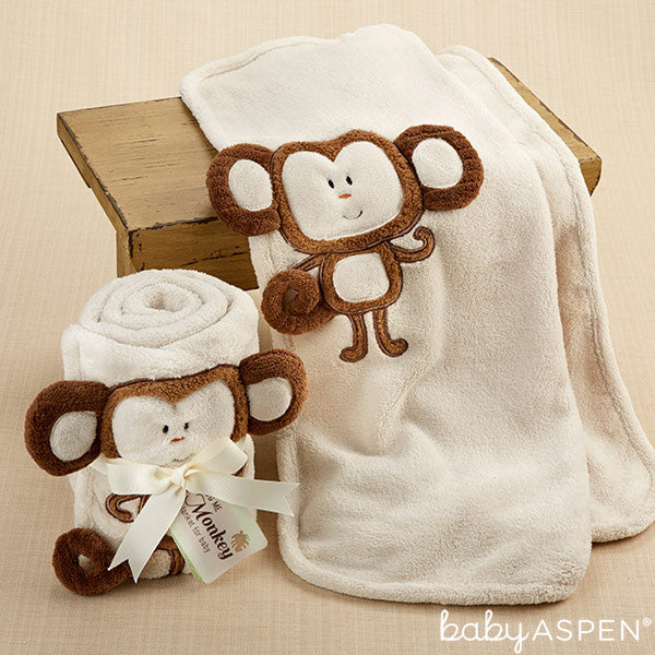 Hug Me Monkey Blanket from Baby Aspen
