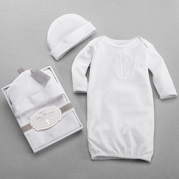 """""""Baby Blessings"""" Baby Gown & Cap 