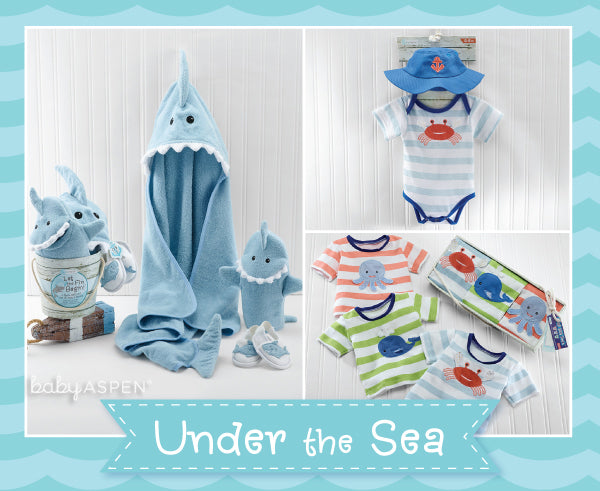 Baby Aspen Spring 2015 New Arrivals | Under the Sea Collection | Shark Themed Baby Gifts | Beach Themed Baby Gifts