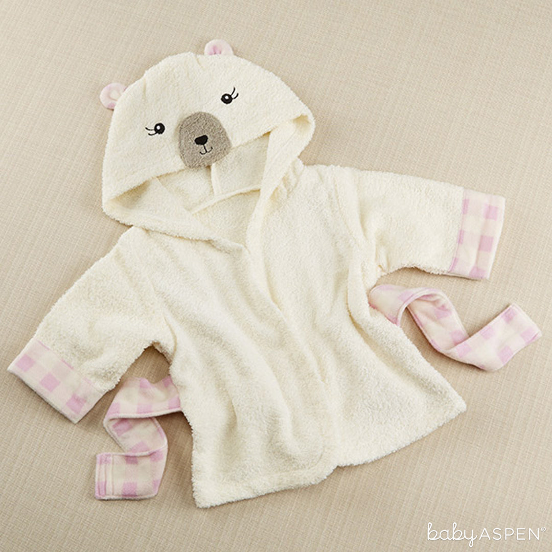 Pink Plaid Bear Robe | Baby Aspen | Happy Camper Collection