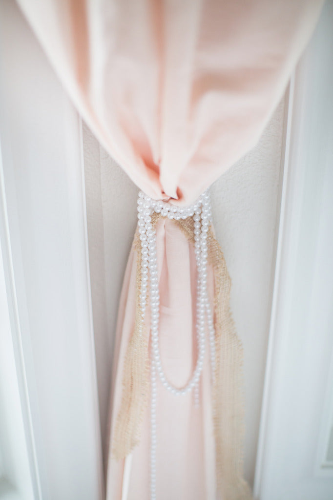 Pearl Curtain Tie Backs | Pink Nursery | Project Nursery