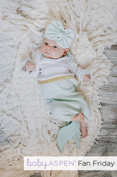 Simply Enchanted Mermaid 2-Piece Layette Set Baby Aspen Fan Photo by @kapturedbykassie_photo via Instagram