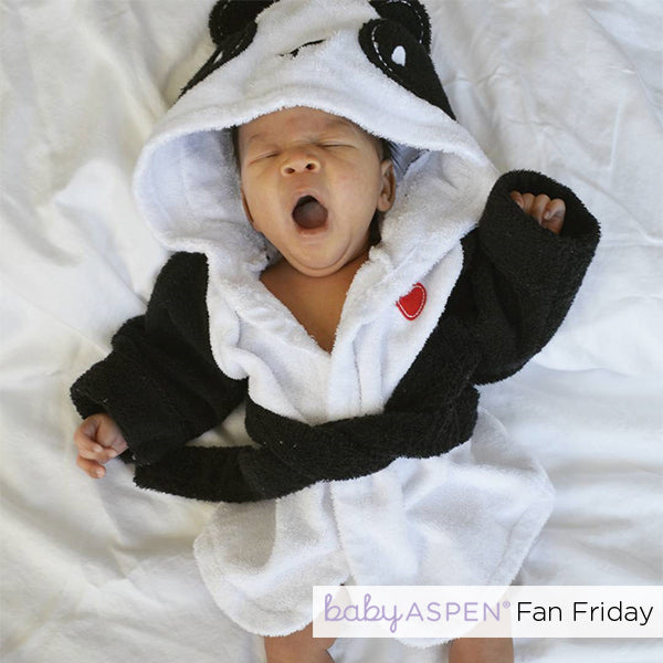Panda Robe Baby Aspen Fan Photo by @auri.wolfe via Instagram